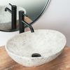 Countertop washbasin REA Sofia Light Stone