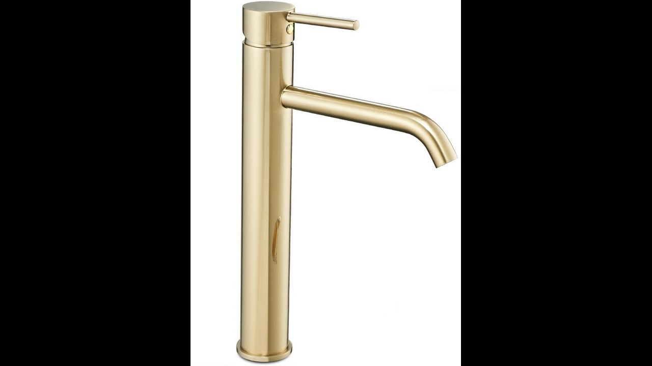 Bathroom faucet Rea Lungo L.Gold High