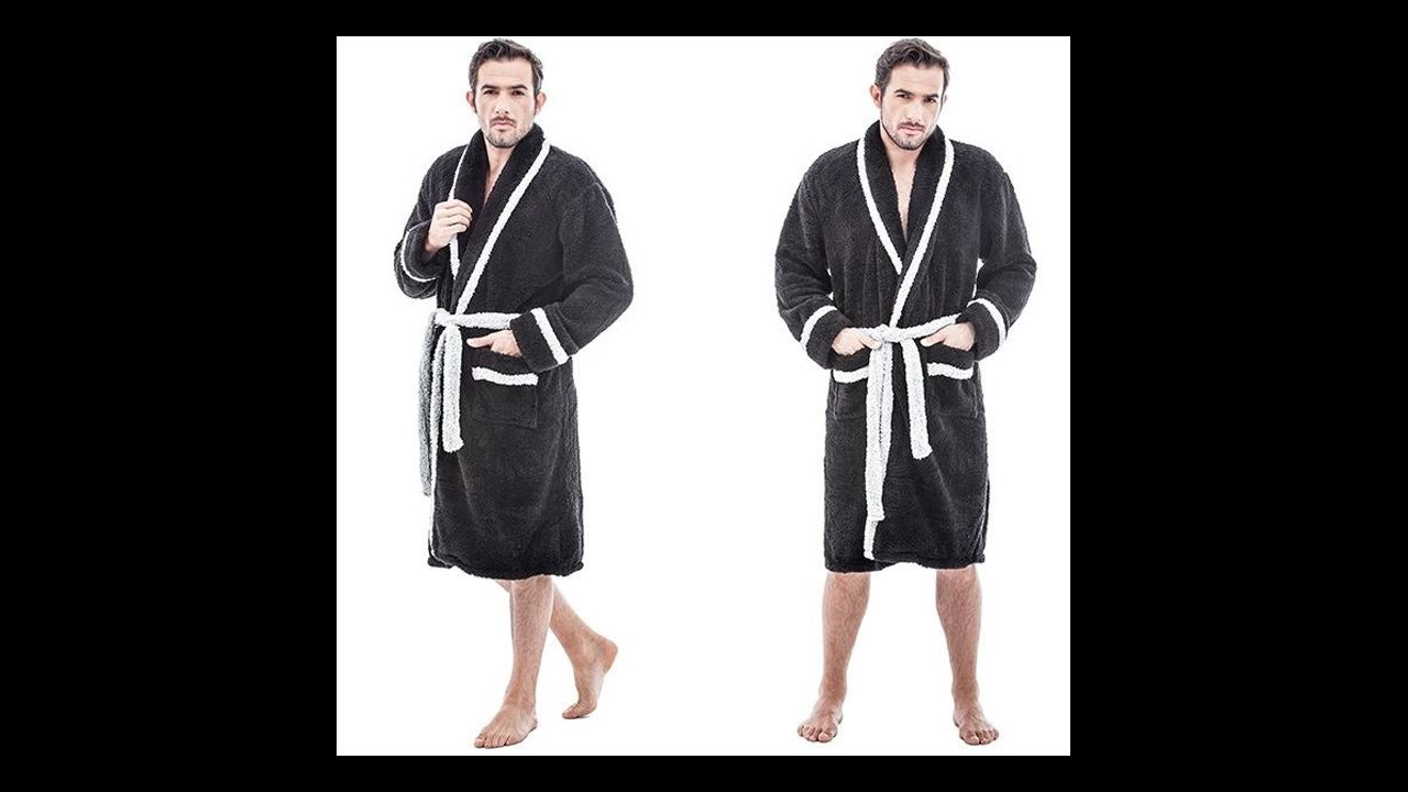 Bathrobe BLACK & GREY