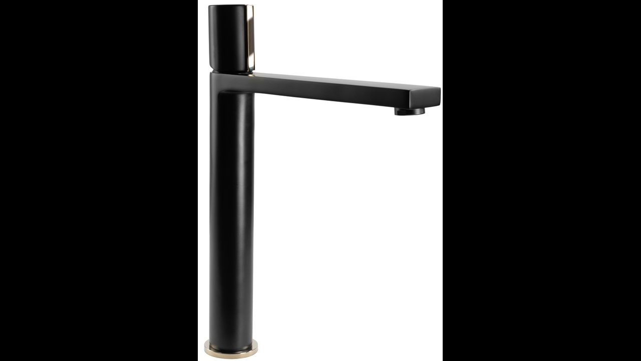 Bathroom faucet ICON Black Gold High