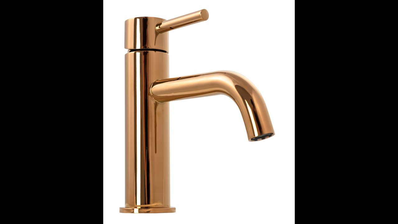 Bathroom faucet Rea Lungo Rose Gold Low