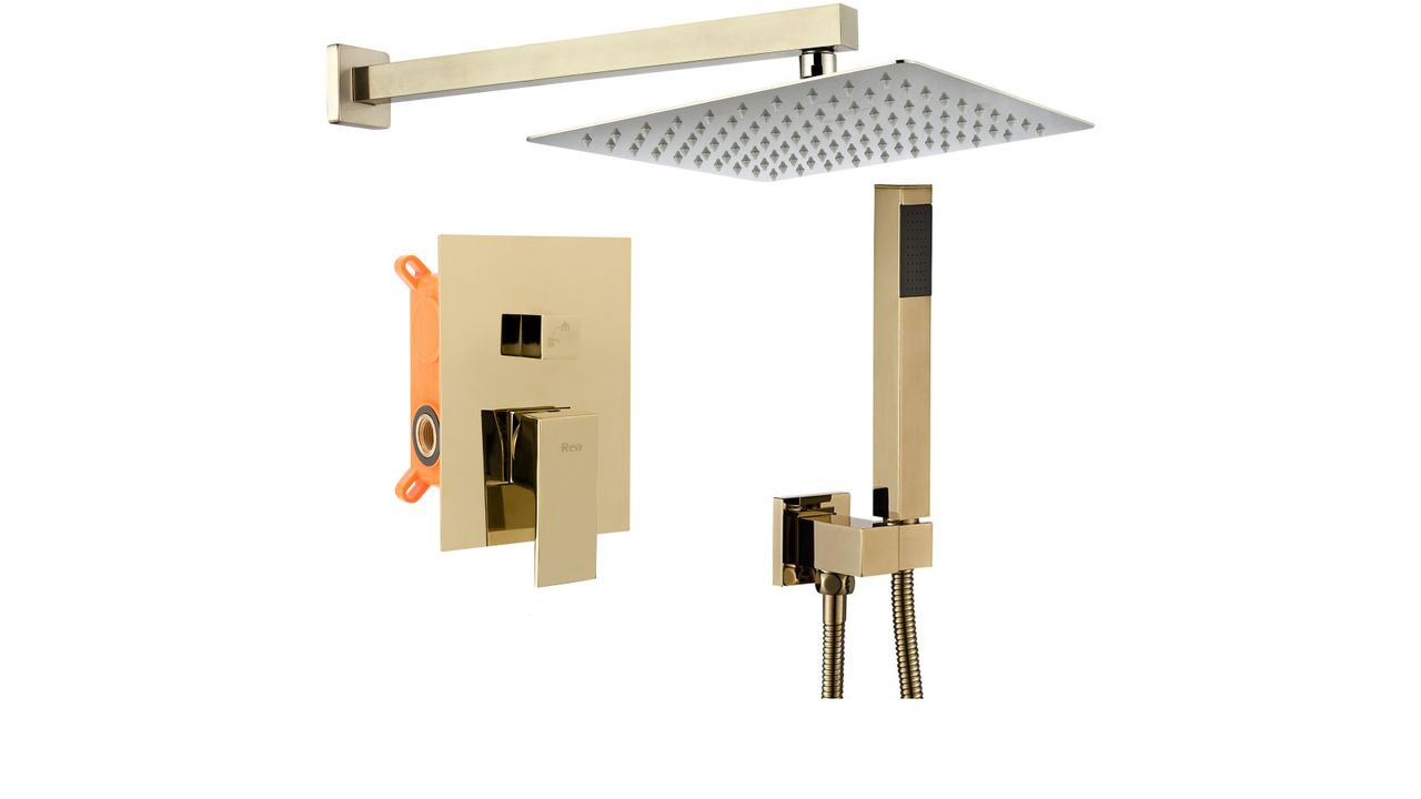 Wall-mounted shower system BENTO L.GOLD BOX