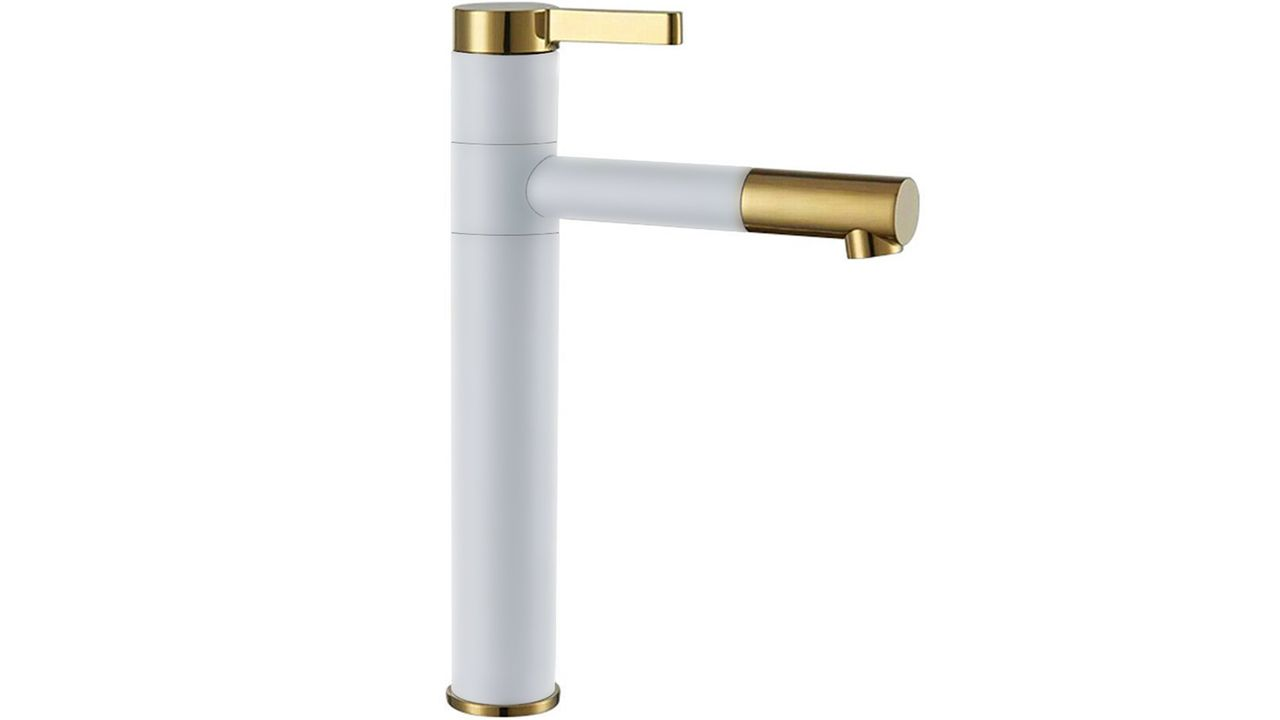 High Bathroom faucet SMART White Gold
