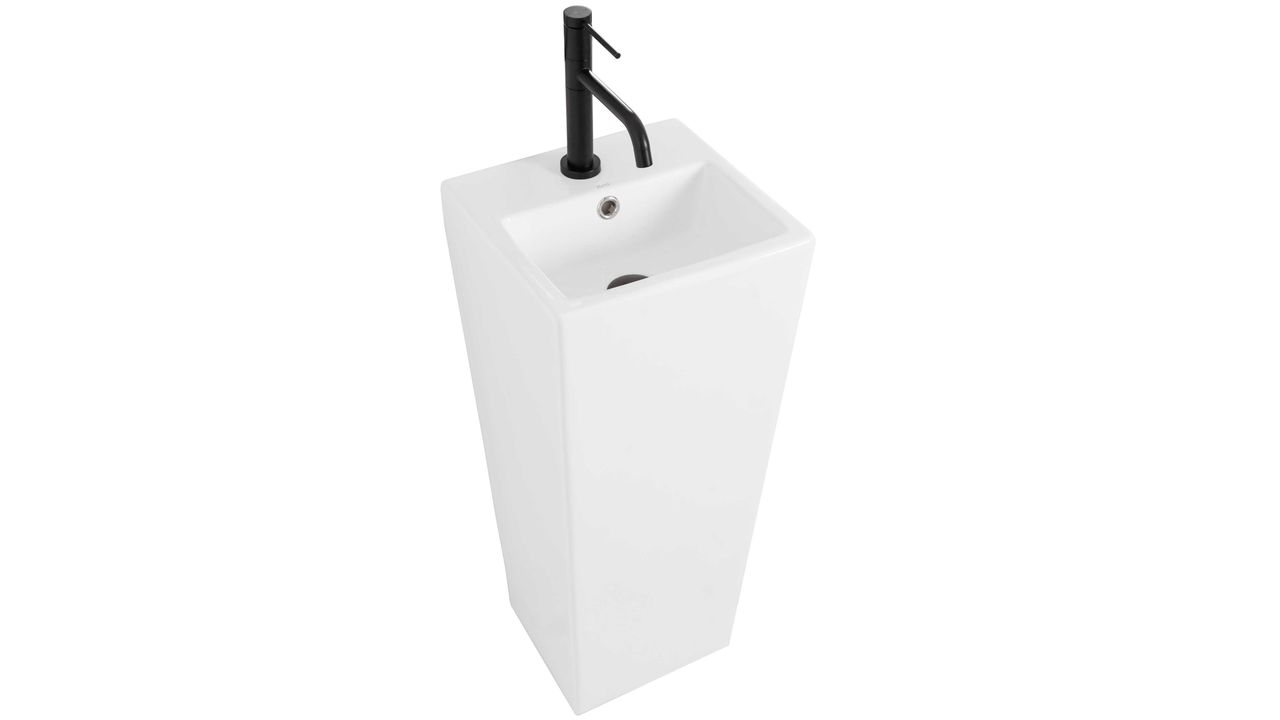Freestanding ceramic basin Kamila