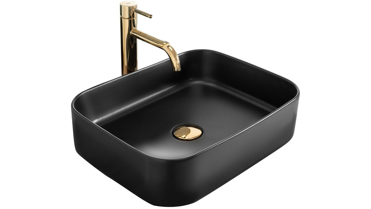 Countertop washbasin Rea KAYA Black Mat