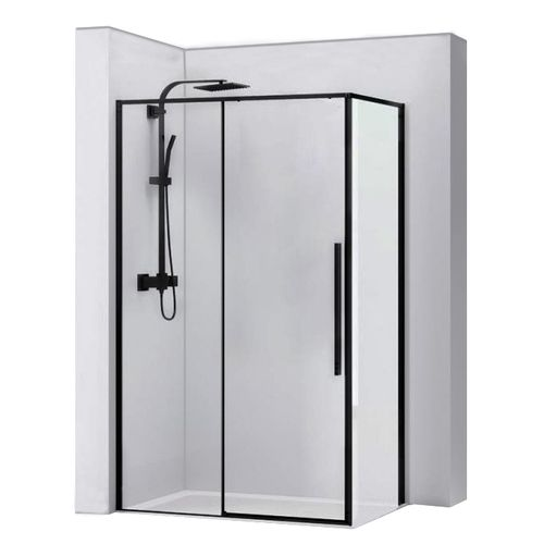 Shower enclosure SOLAR BLACK MAT 90x120