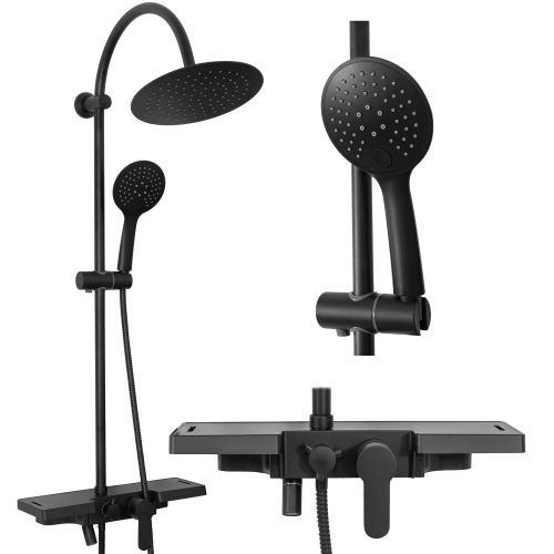 Shower system Rea Vigo Black