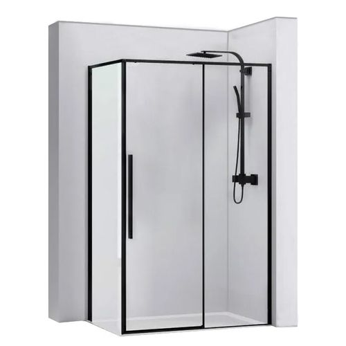 Shower enclosure SOLAR BLACK MAT 80x100