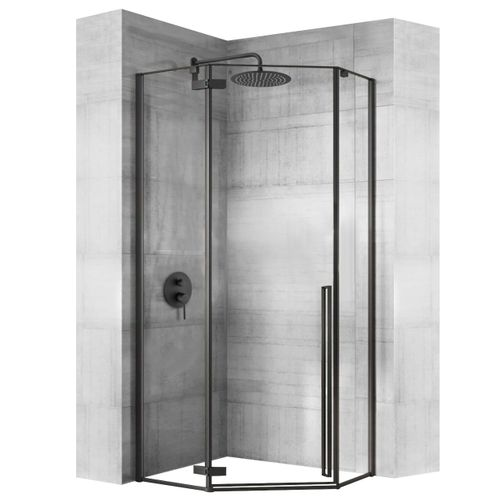 Shower enclosure DIAMOND BLACK MAT 100x100