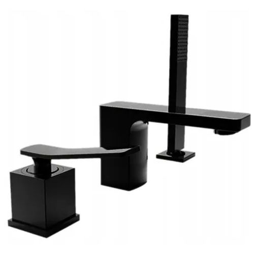 Bath mixer Rea Sonic Black Three piece