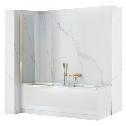 Bath shower screen Rea Elegant Gold 80