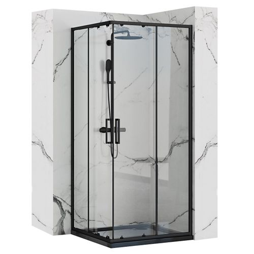 Shower enclosure Rea Punto Black 80x80