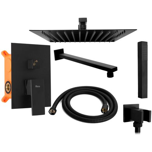 Wall mounted Shower system Rea Fenix Black + BOX