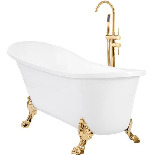 Freestanding bath Rea Brasso Gold