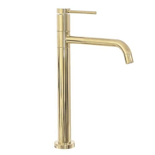 Basin mixer Lugano Slim Gold High
