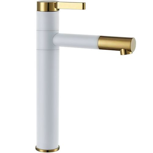 High Basin mixer SMART White Gold