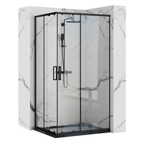 Shower enclosure Rea Punto Black 80x100