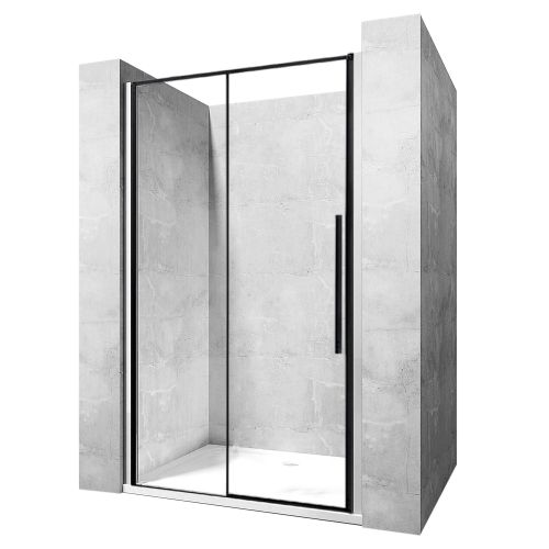 Shower doors SOLAR BLACK MAT 100