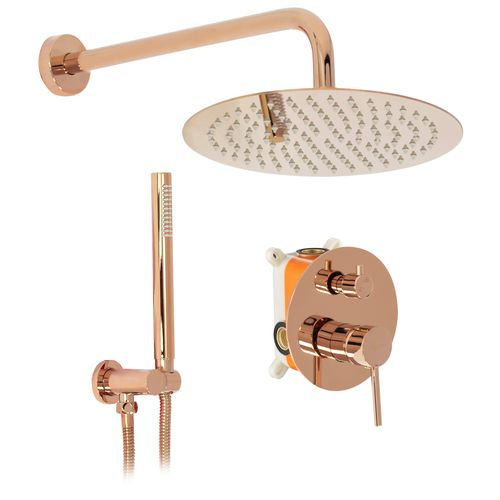 Wall mounted Shower system Rea Lungo Rose Gold + BOX