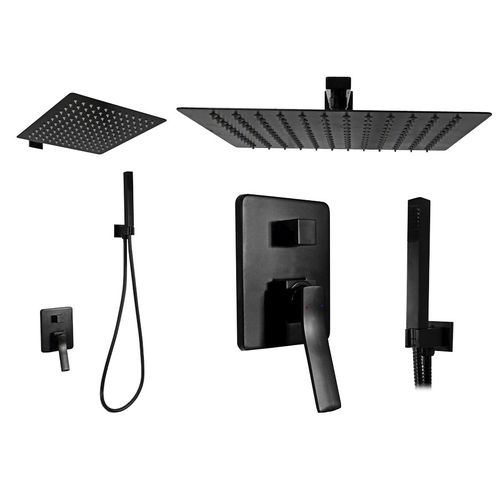 Wall mounted Shower system Rea Sonic Black