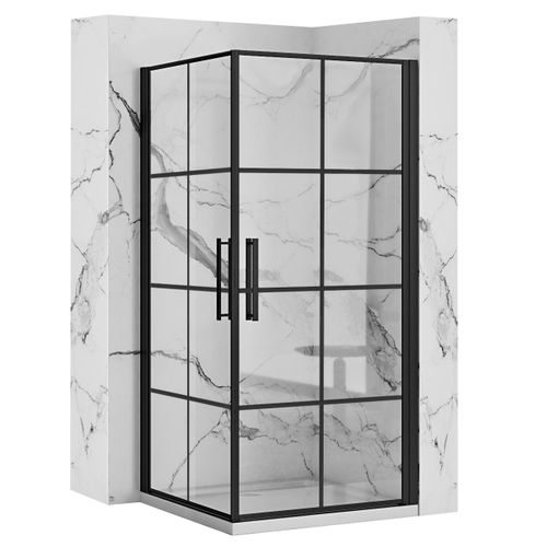 Shower enclosure Rubik Black Mat Rea