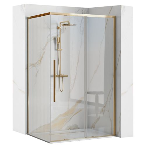 Shower enclosure SOLAR GOLD 80x100