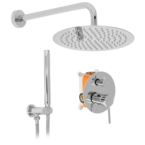 Wall mounted Shower system REA Lungo chrome + BOX